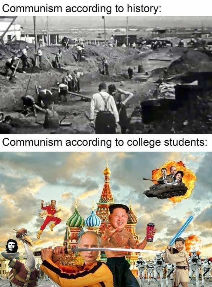 What communist dreams are made out of. - meme
