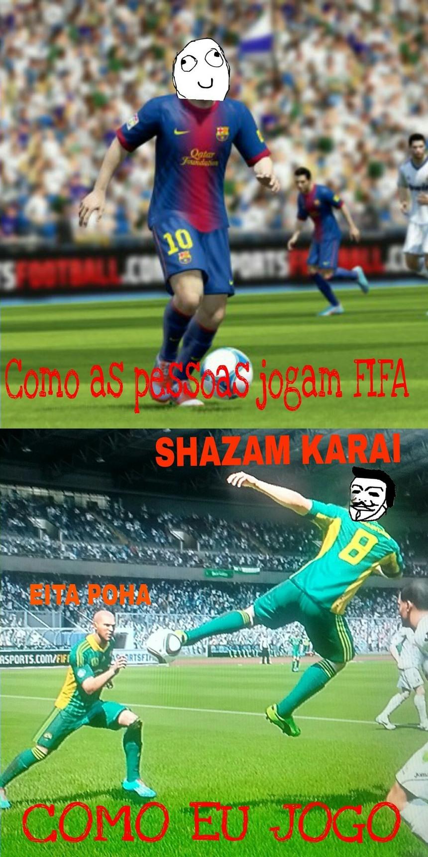 Espanca do futebol - meme