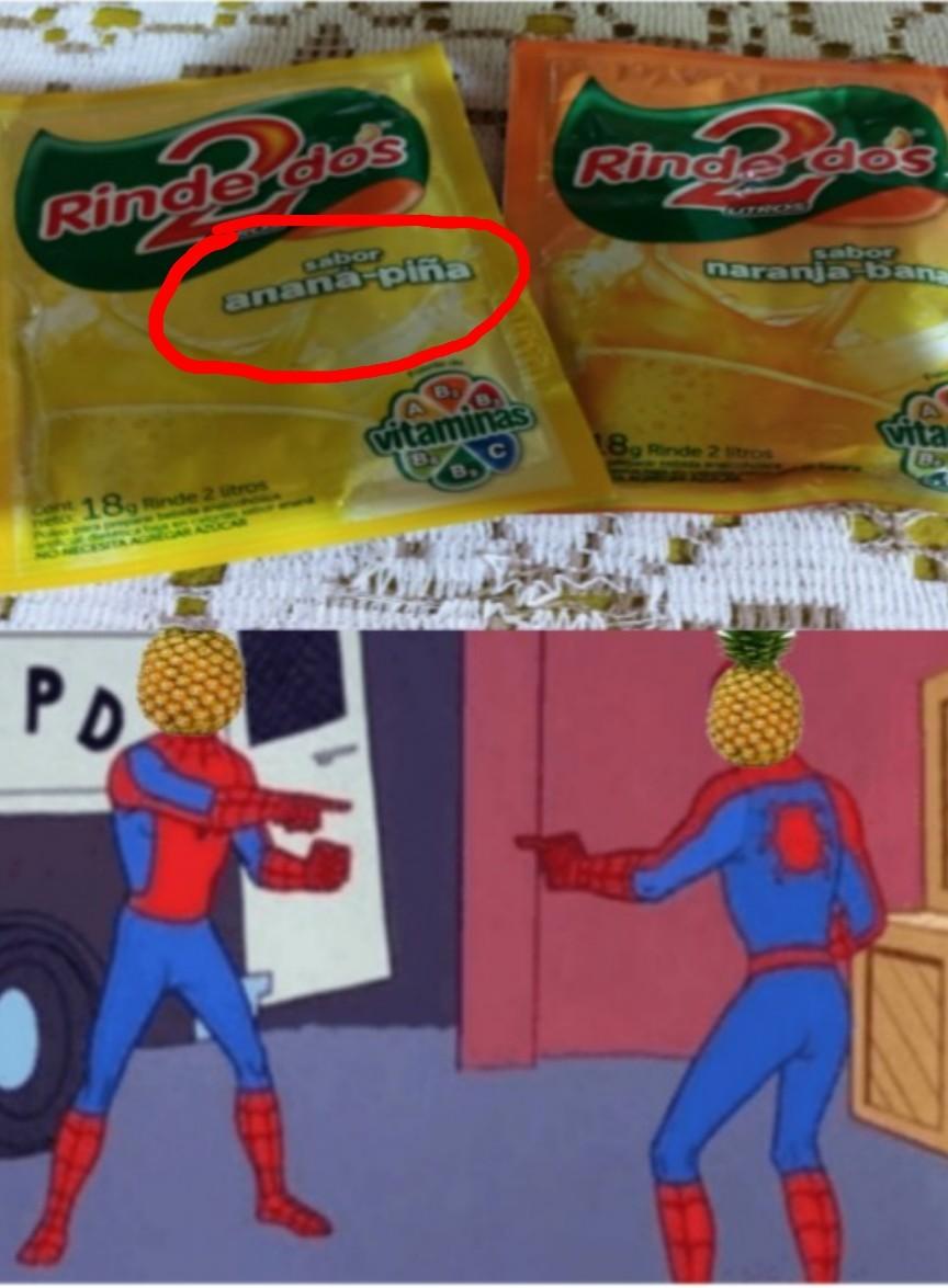 Aqui son la misma fruta - meme