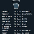 How do you see the glass?