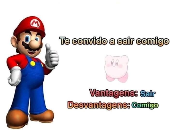 Mario dano joinha fodasekkkk - meme