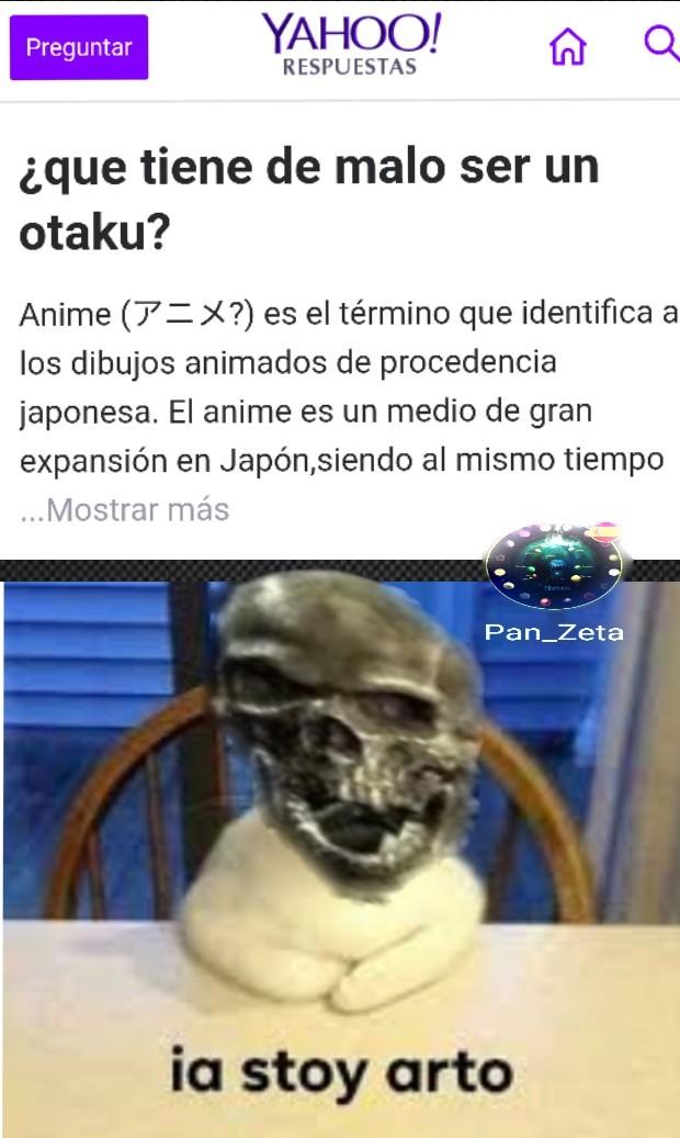 Estos otakus... - meme