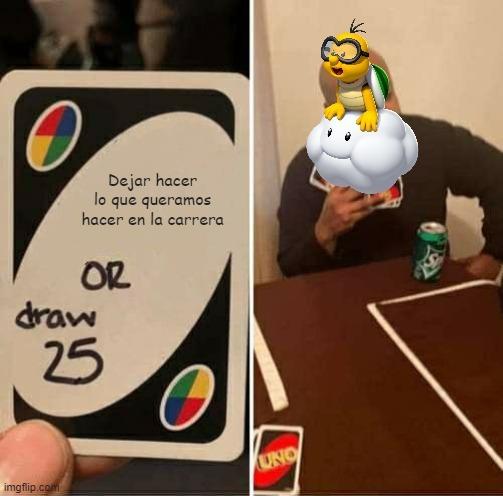 Lakitu en mario kart - meme