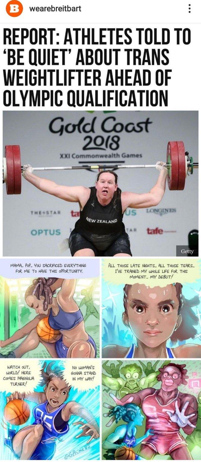 Transgenders in sports - meme