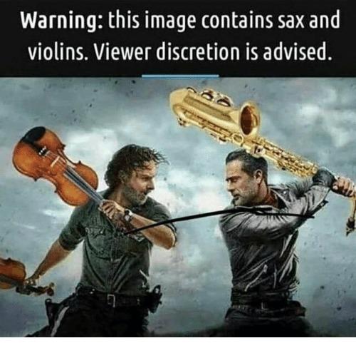 sax and violins - meme
