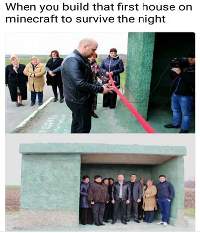 Minecraft is my city - meme