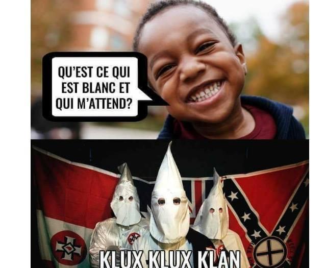 Encore un meme raciste, déso pas déso