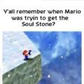 Lembra quando o Mario tentou pegar a joia da alma?