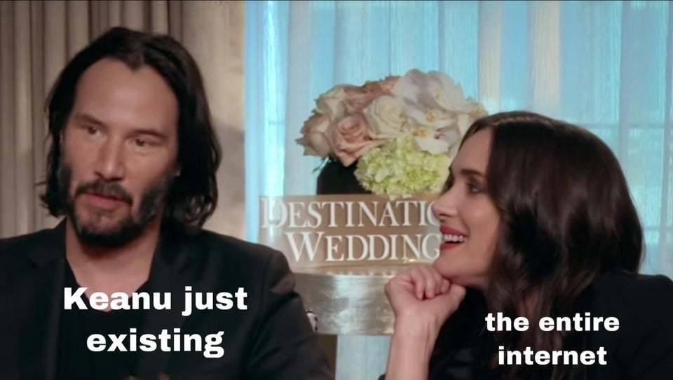 Everyone loves keanu reeves - meme