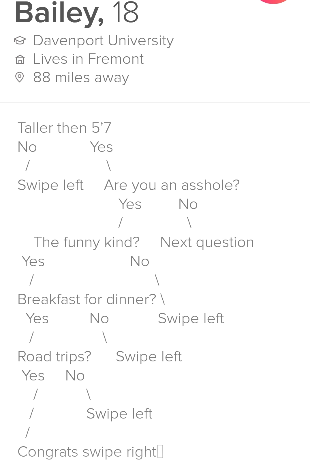 Women of Tinder:  Assholes > Nice Guys - meme