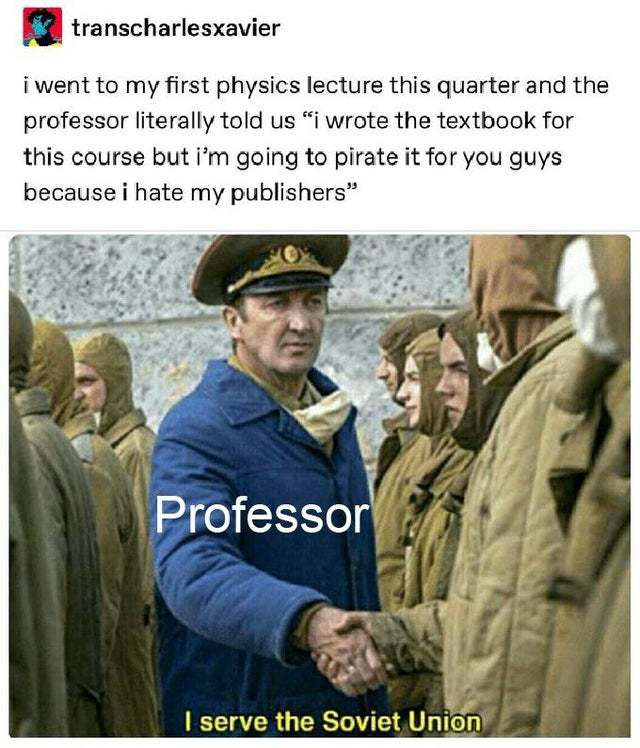 Cool professor - meme