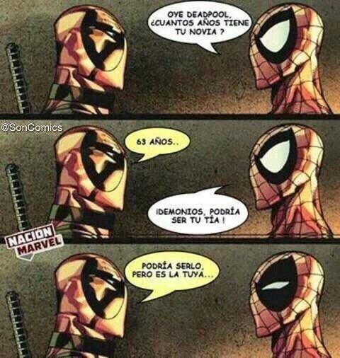 Deadpool y sus formas de trollear - meme
