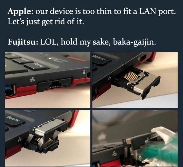Apple vs Fujitsu - meme