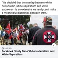 So europeans have no right on having a white country cuz white is KKK
