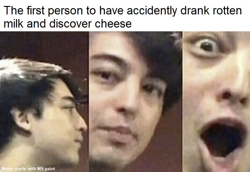 Always wondered how someone discovered cheese - meme