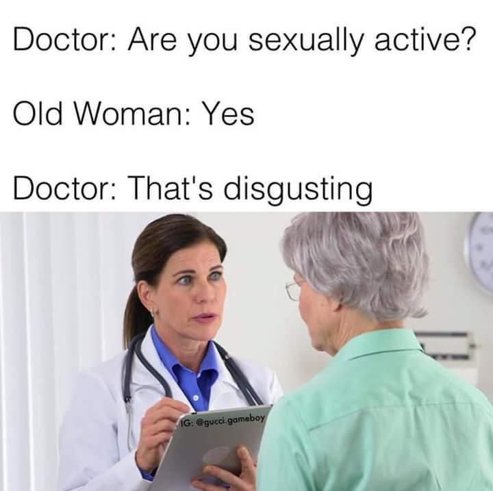 Wonder if she's a head doctor... - meme