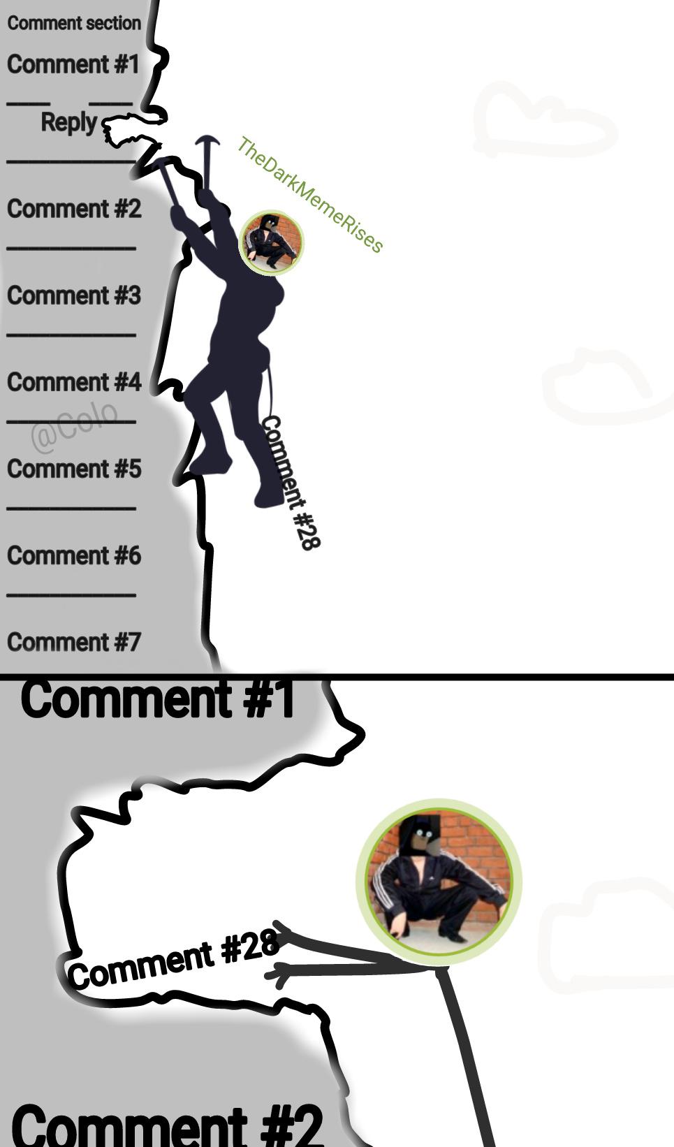 Comment Riding - meme