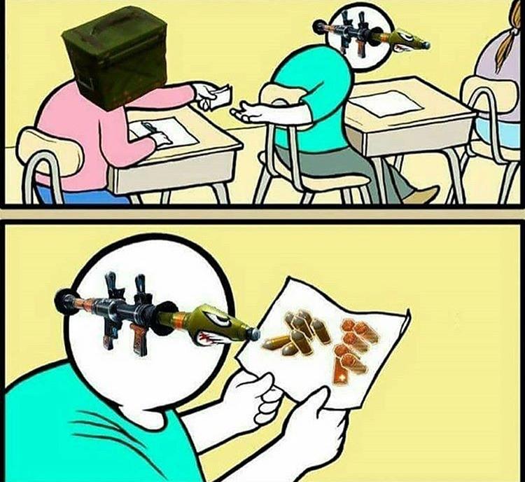 Caixas de munição trollando mesmo que não seja 1° de Abril - meme