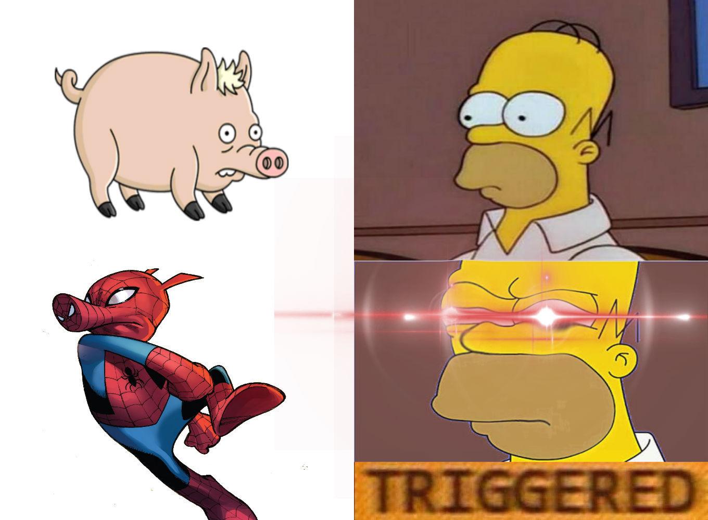 spider cerdo - meme