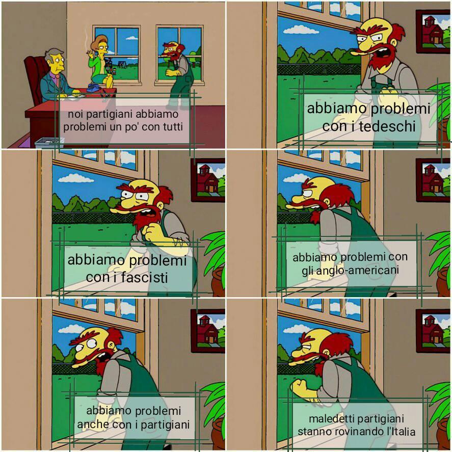 Pa pa partigiani - meme