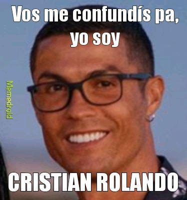 CRISTIAN ROLANDO - meme