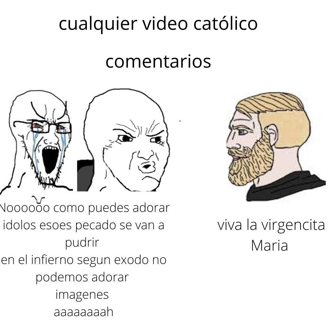 evangelicos vs catolicos - meme