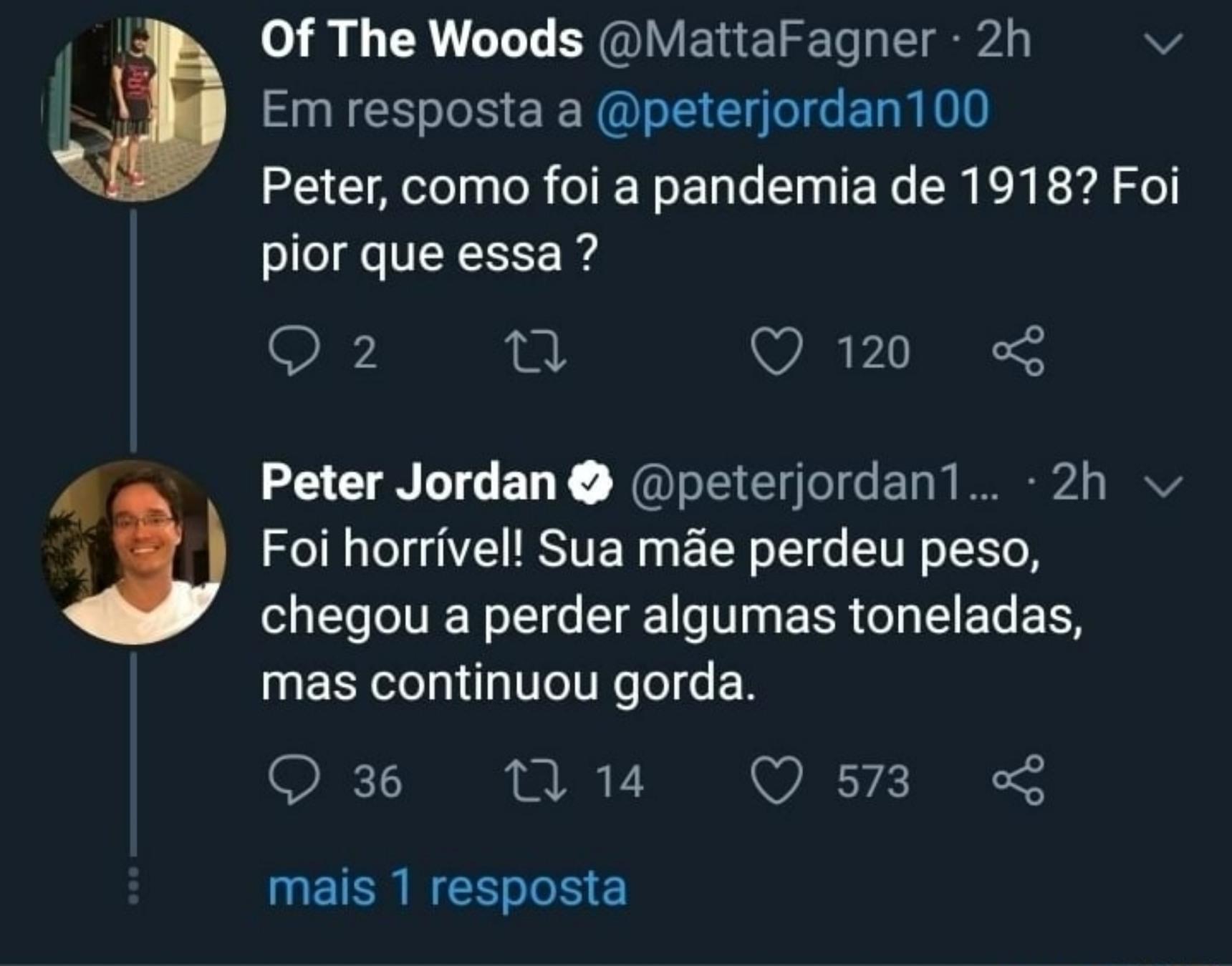 E o Peter ataca novamente, eu acho que o povo só pergunta essas coisas para ver o que ele vai dizer. Kkk - meme