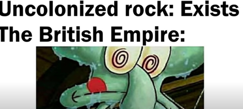 A meme about the British