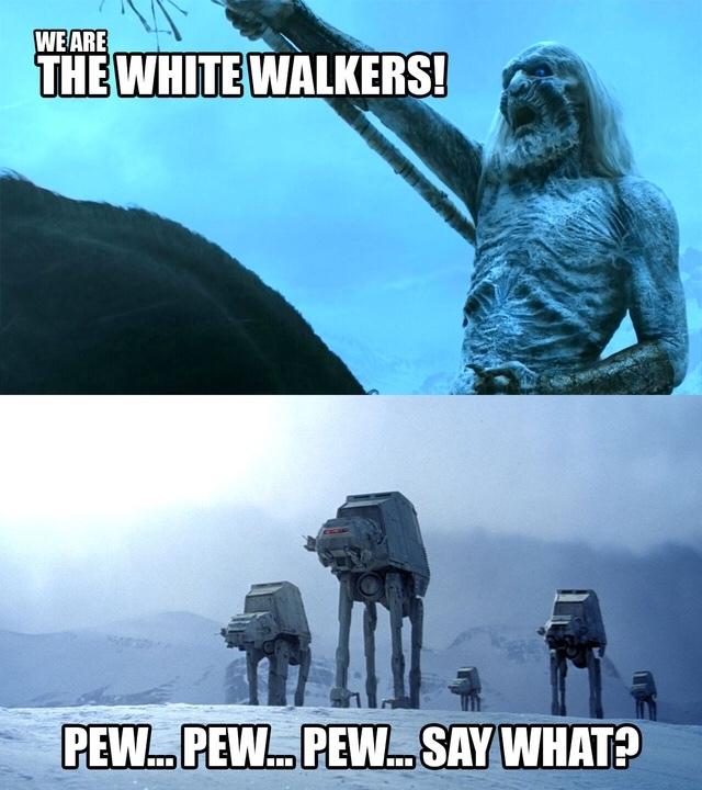 Star Wars > Game of Thrones - meme