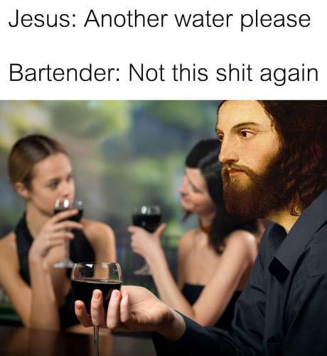 Jesus' trick - meme