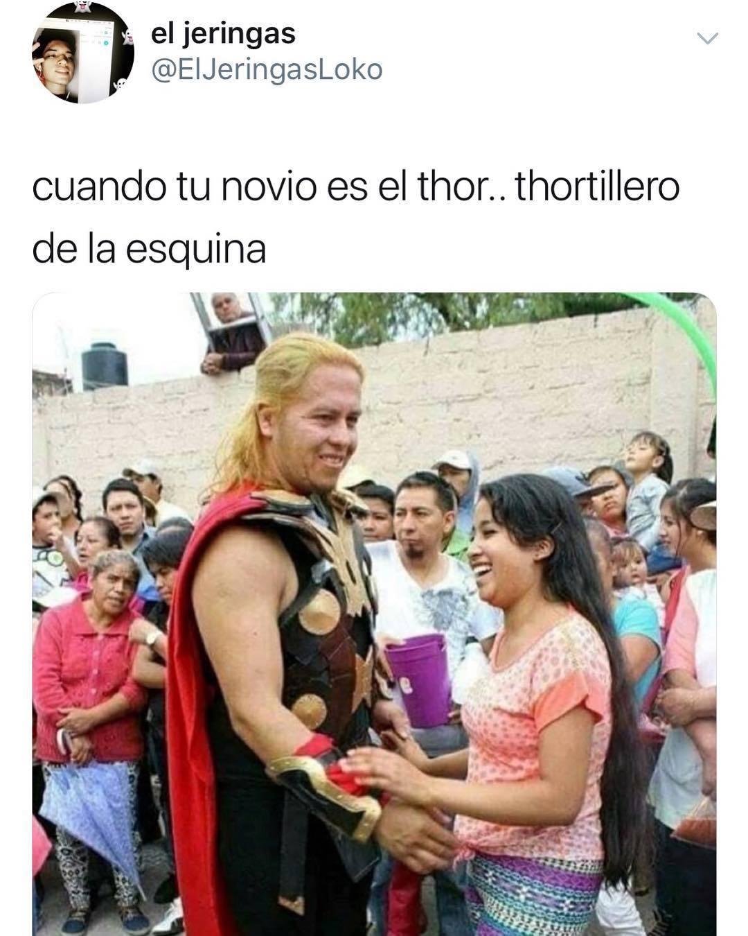 Con este Thor si que hubieran ganado contra thanos - meme