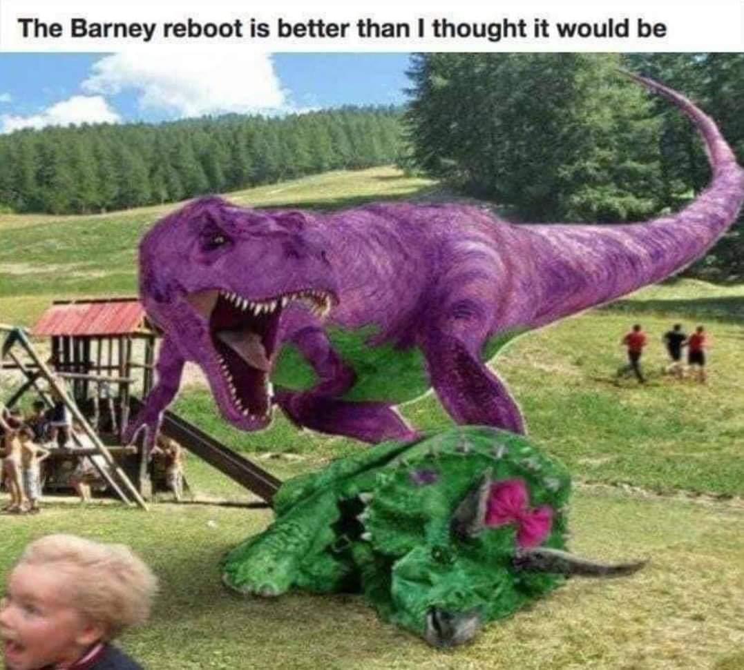 Barney reboot looks sweet - meme