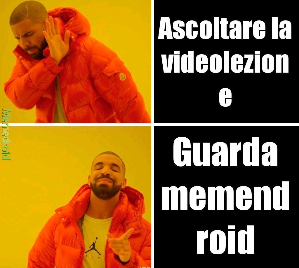 Io alle videolezioni - meme