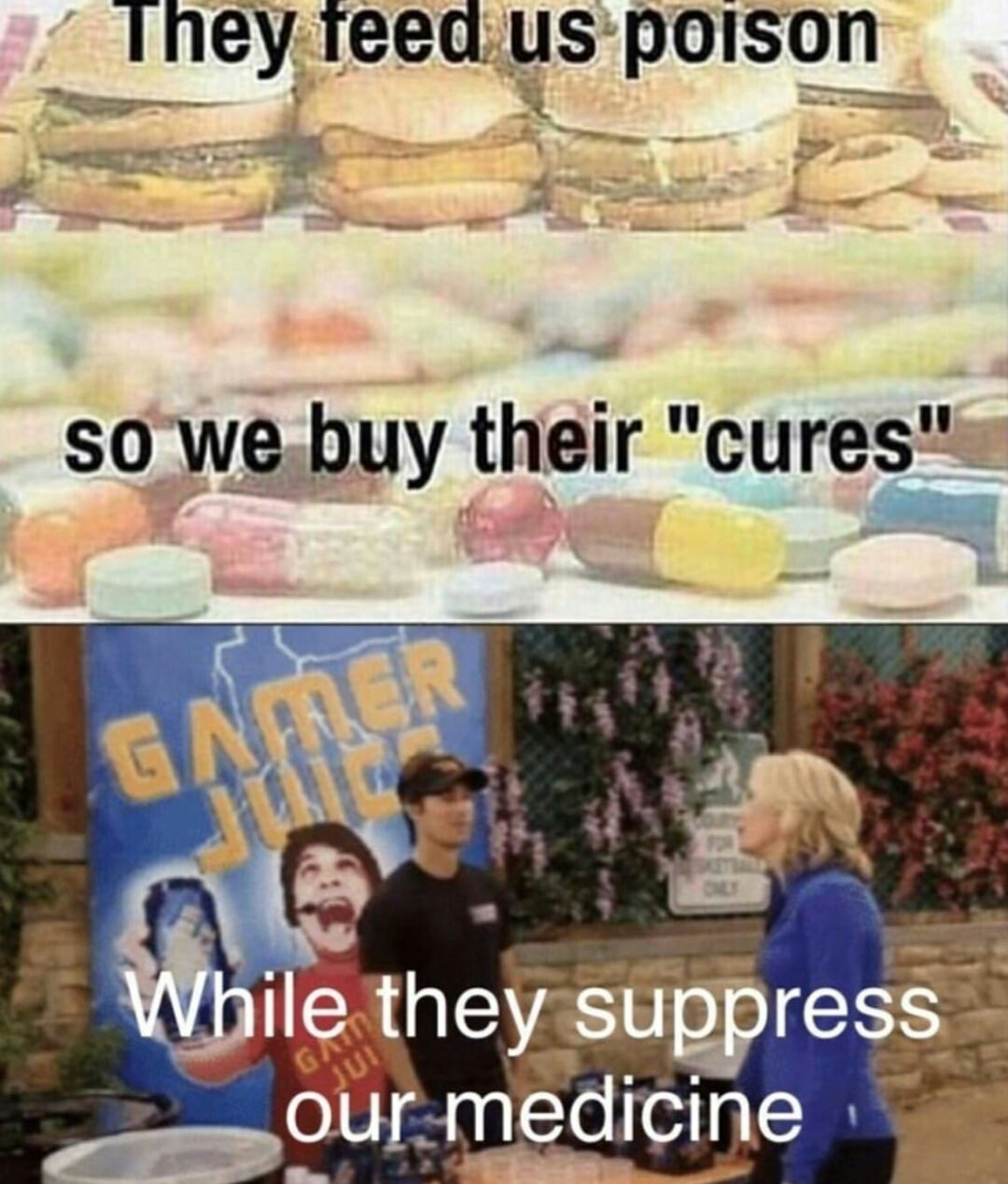 gamer juice - meme