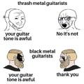 Black metal vs Thrash metal