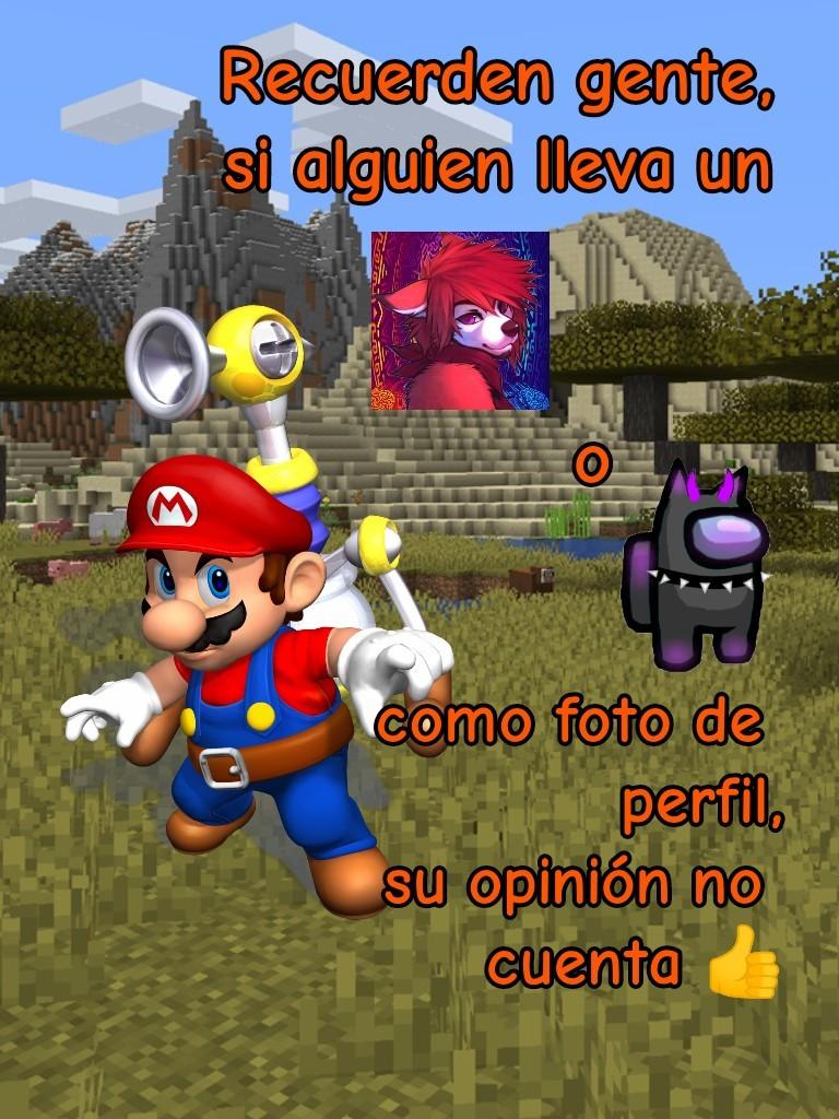 Mario Minecraft - meme