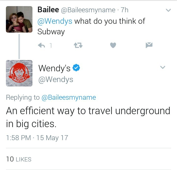 Wendy's is the fucking best - meme