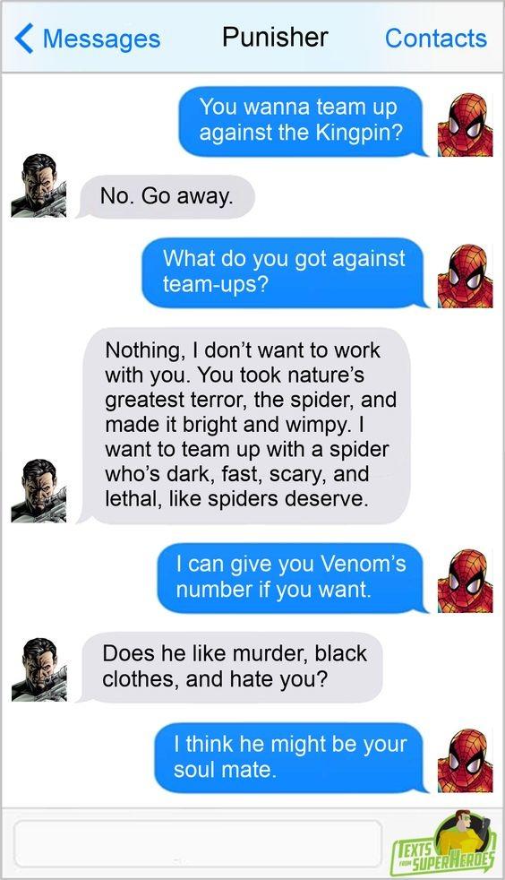 Imagine a Venom & Punisher teammup - meme