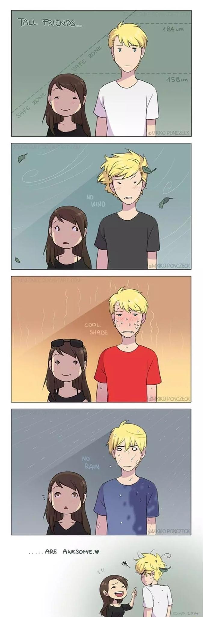 tall friends - meme