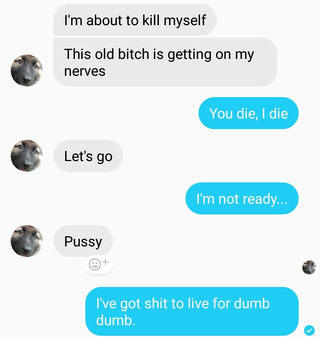 Suicide is no joke - meme