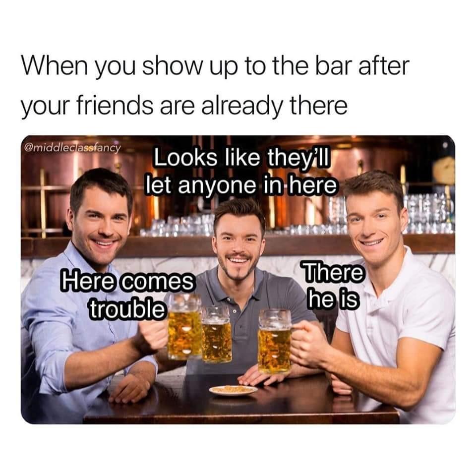 That's a bar - meme