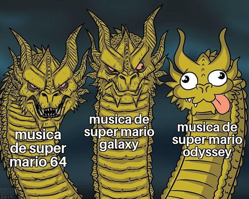El mejor es mario galaxy - meme