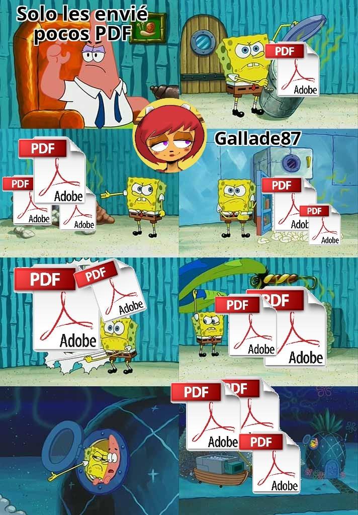 El chiste está en PDF - meme