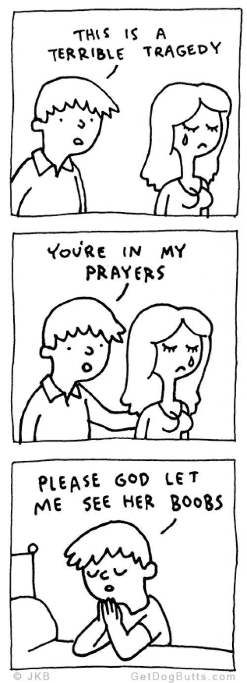 How man pray for woman - meme