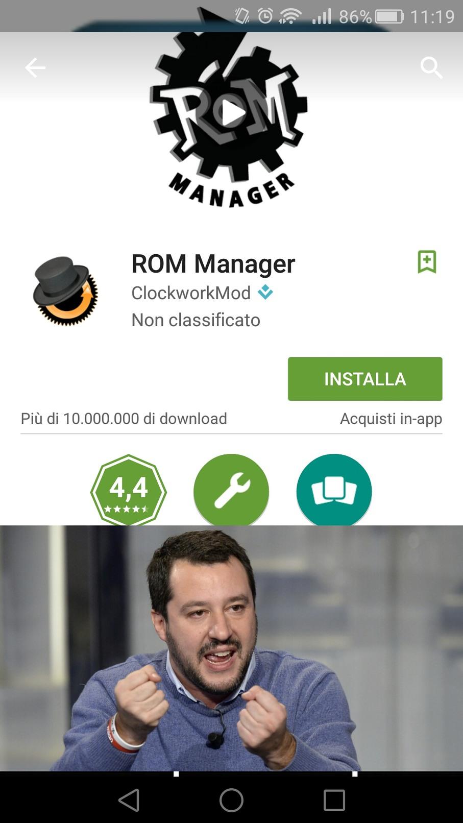 Rom manager - meme
