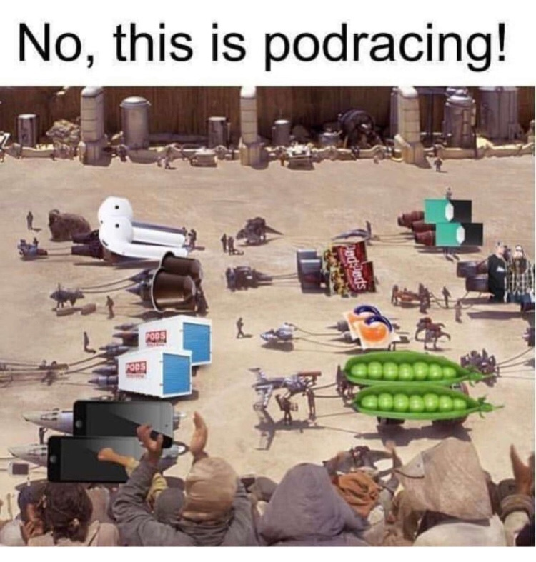 all the worlds pods - meme
