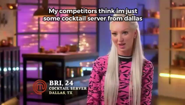 My competitors think I'm just some cocktail server from Dallas - meme