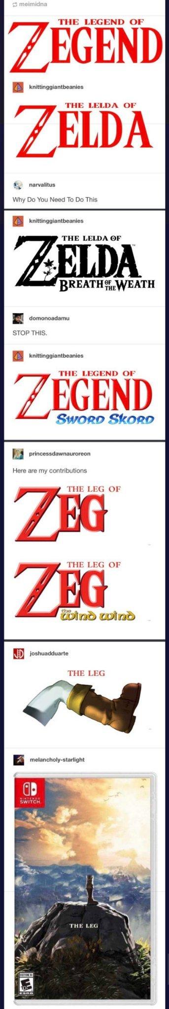 The leg - meme