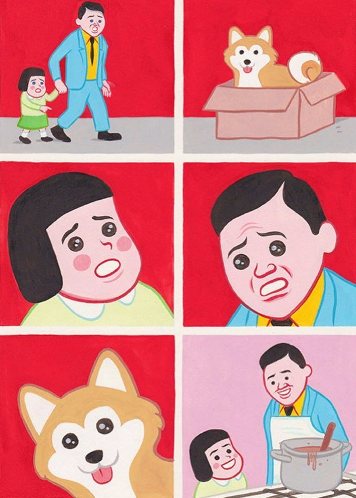 Doggo soup. - meme