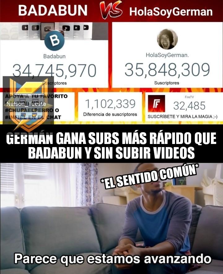 HolaSoyGerman vs Badabun - meme